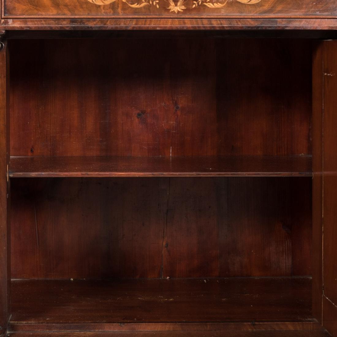 Inlaid Mahogany Antique Cabinet - 5