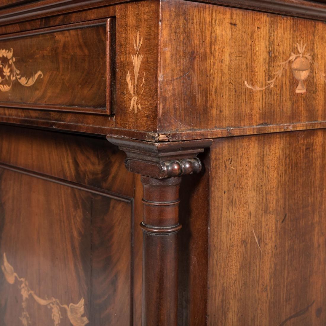 Inlaid Mahogany Antique Cabinet - 9