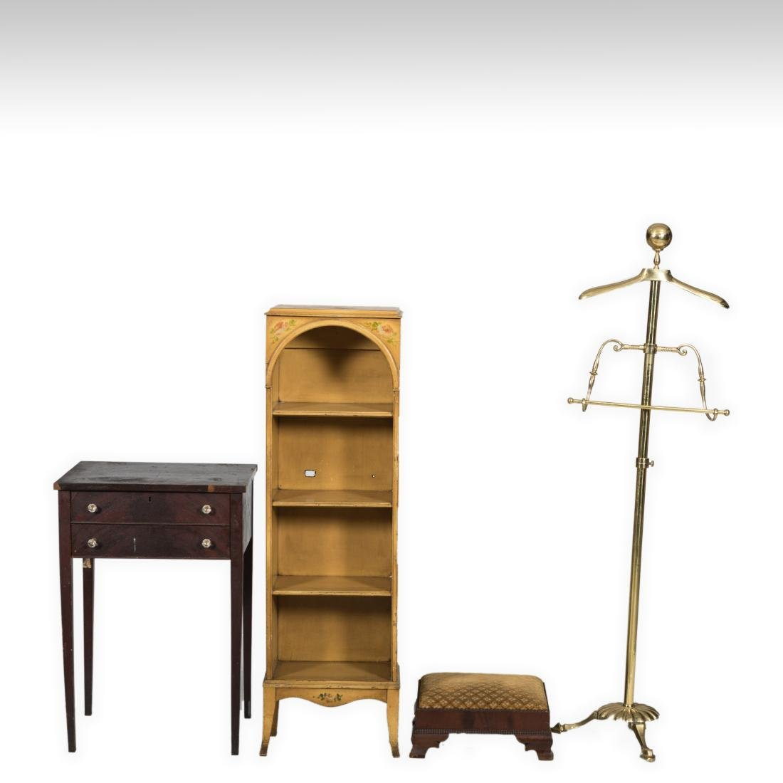 Adams Style Shelf, Stand, Stool and Valet