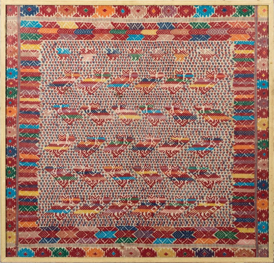 """Framed Needlework Sampler - """"Rows of Birds"""""""