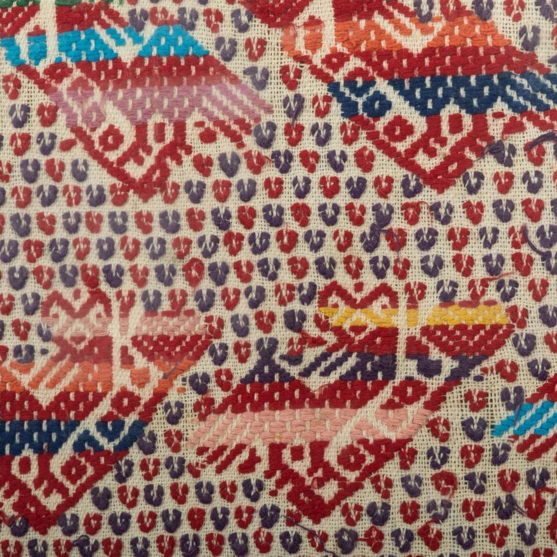 """Framed Needlework Sampler - """"Rows of Birds"""" - 4"""