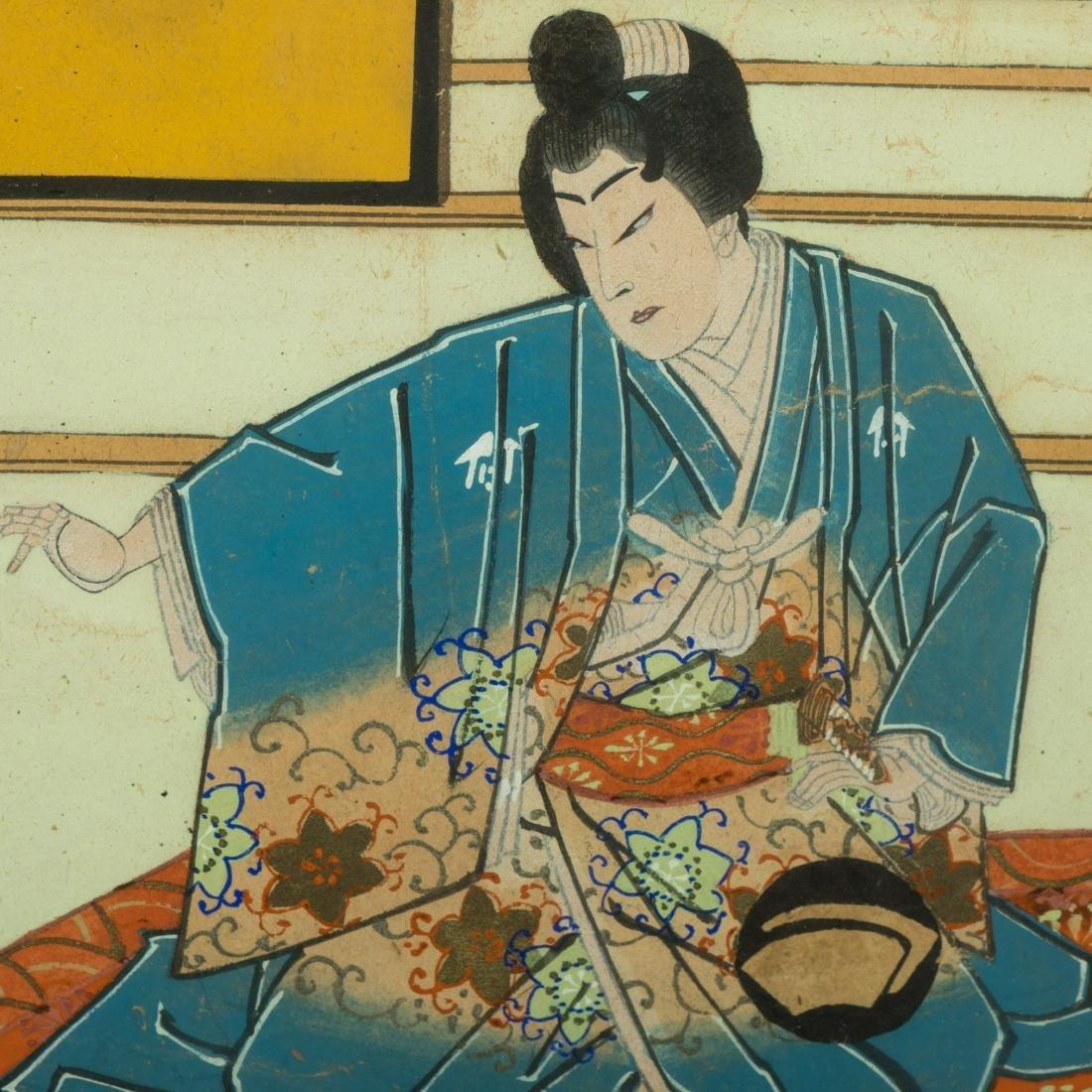 Large Japanese Gouache - Family Scene - 6