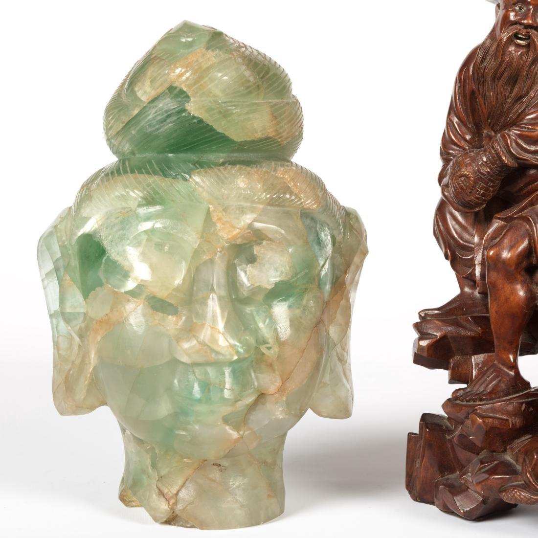 Chinese Wood Carving - Jade Quan Yin - 2
