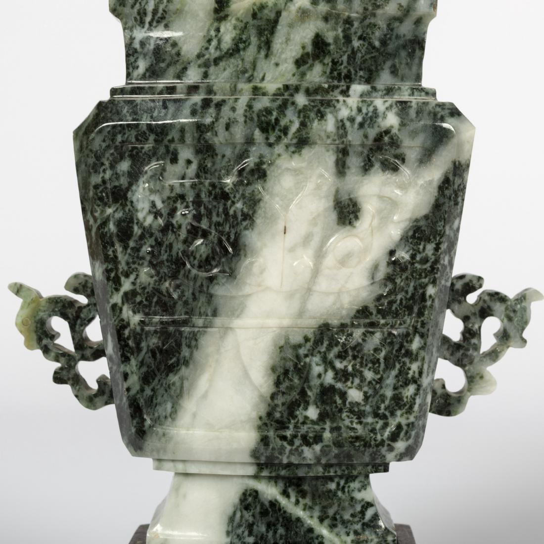 Jade Jar and Soapstone Vase - 5
