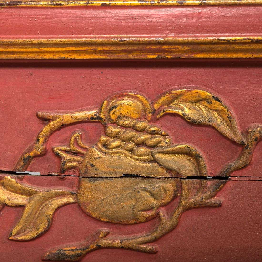 Four Panel Japanese Giltwood Screen - 5