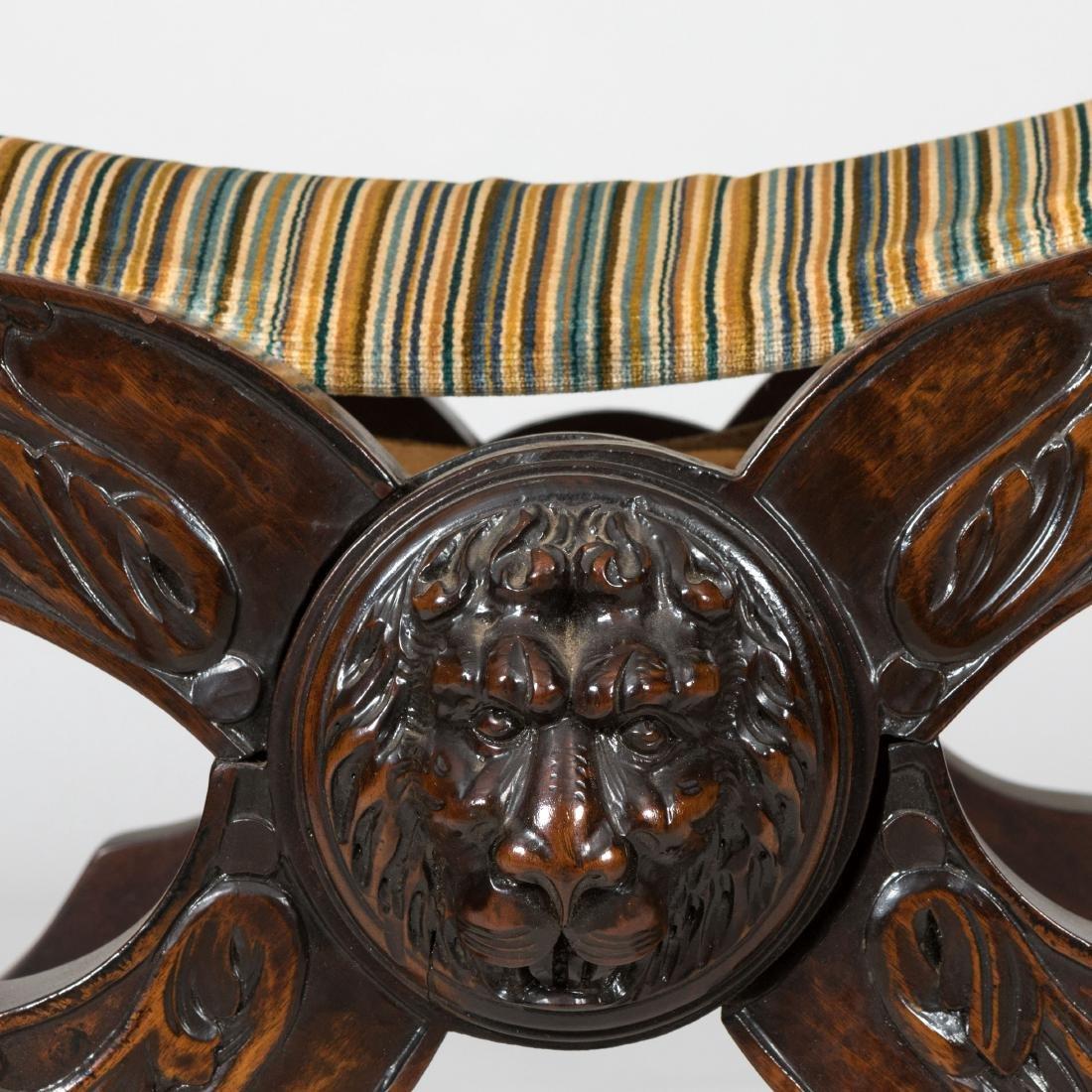Figural Carved Savonarola Chair - 2