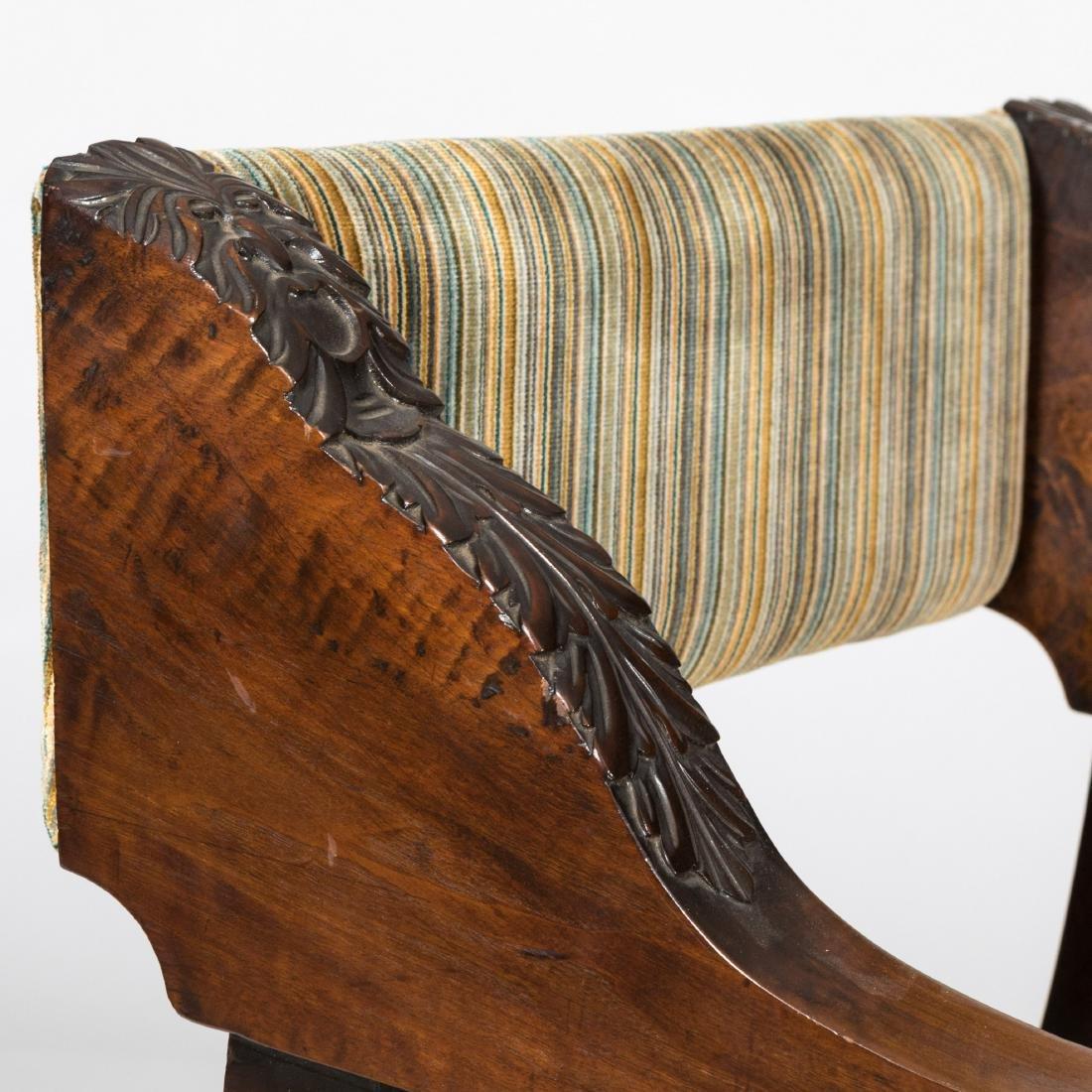 Figural Carved Savonarola Chair - 5