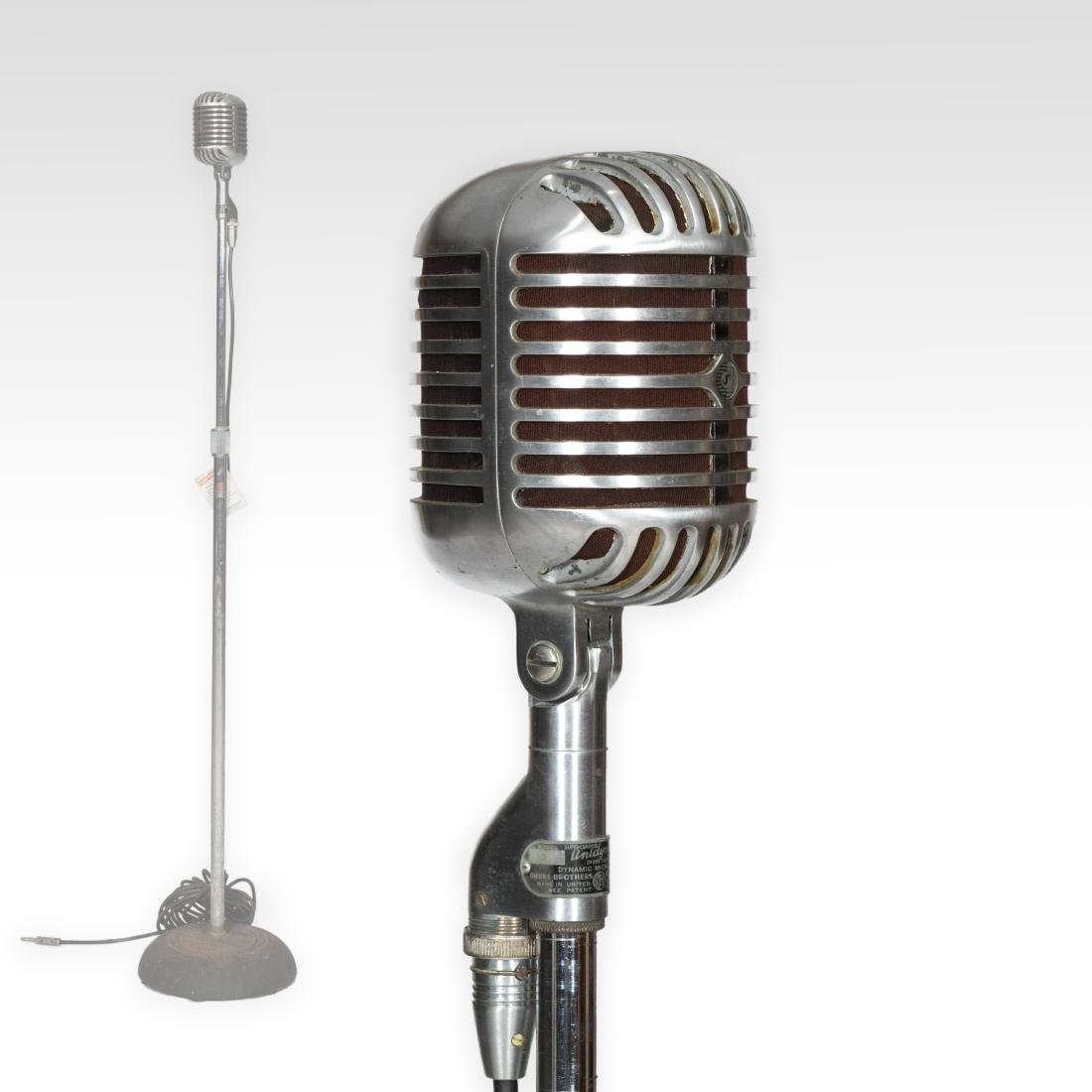Shure Unidyne 55C Microphone on Stand