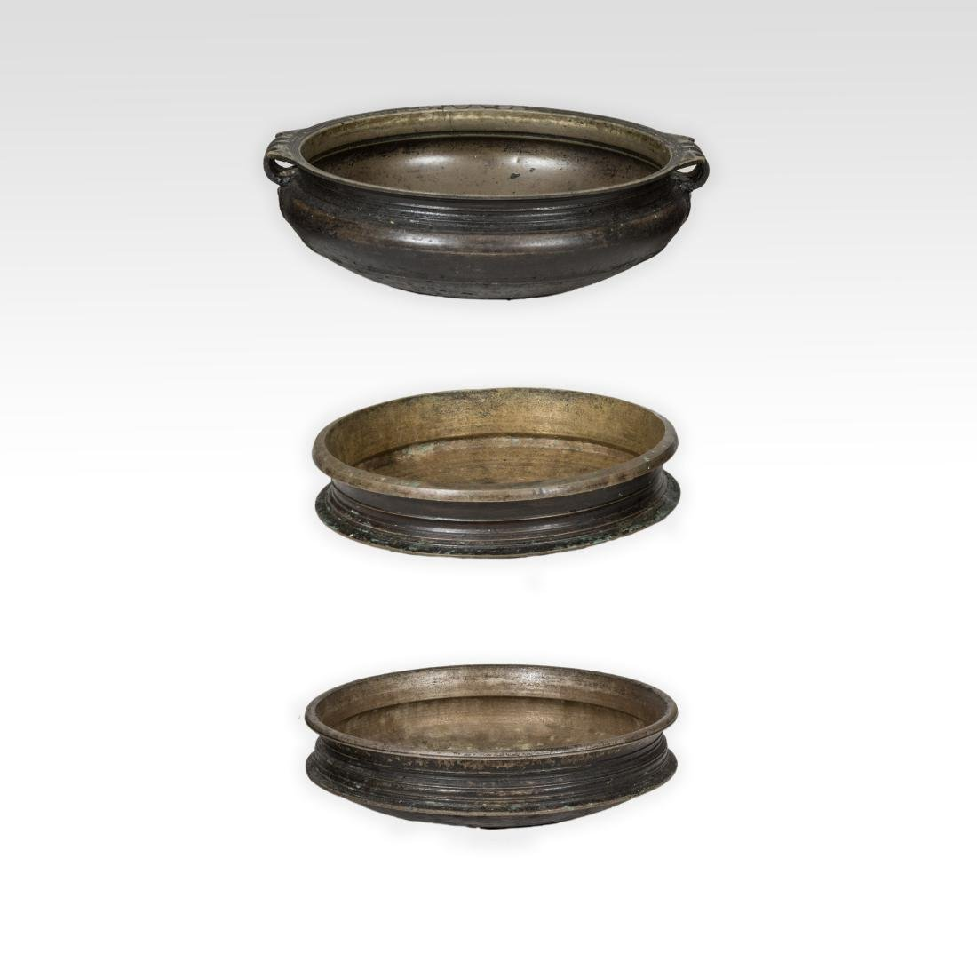 Three Large Chinese Bronze Vessels
