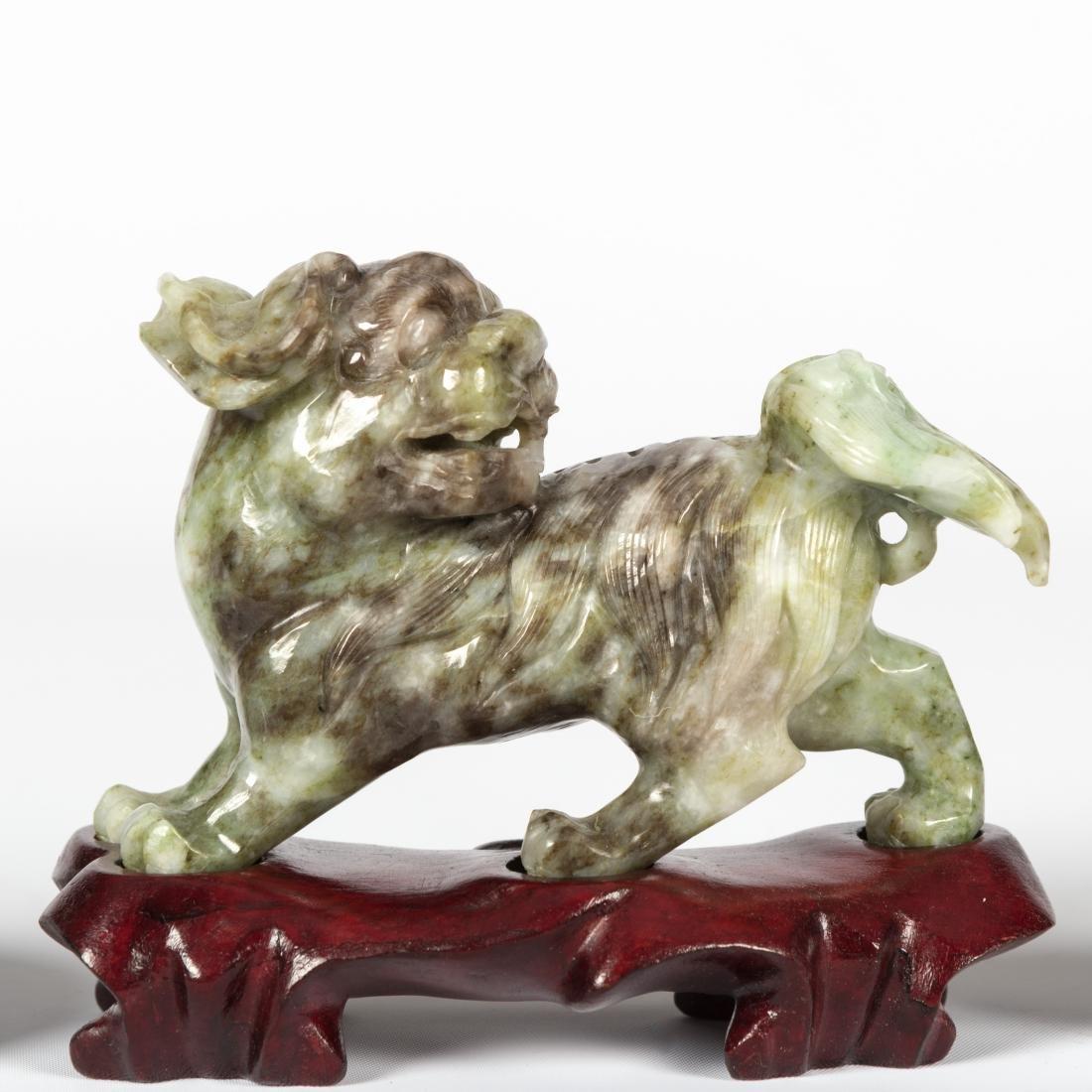 Jade Foo Dog, Snuff Box and Seal Box - 2