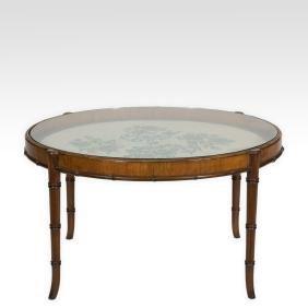 Faux Bamboo Tea Table
