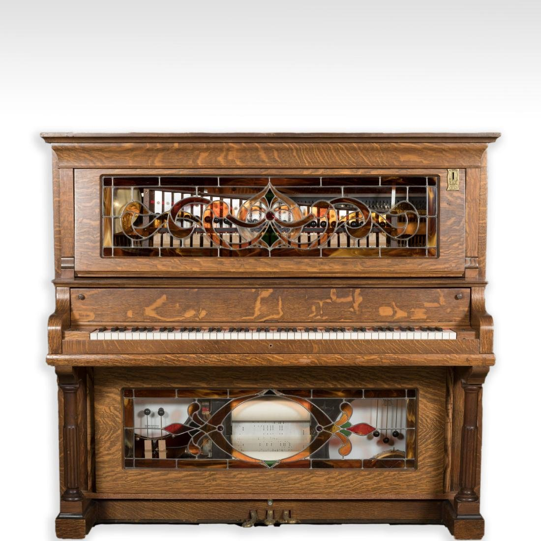 Hobart Oak Coin-Op Player Piano