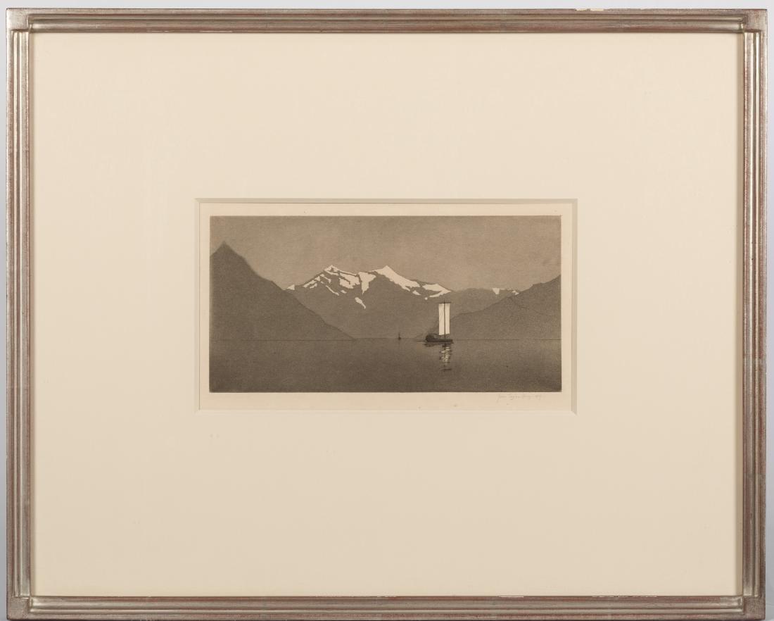 John Taylor Arms - On Lake Como #2 - Aquatint
