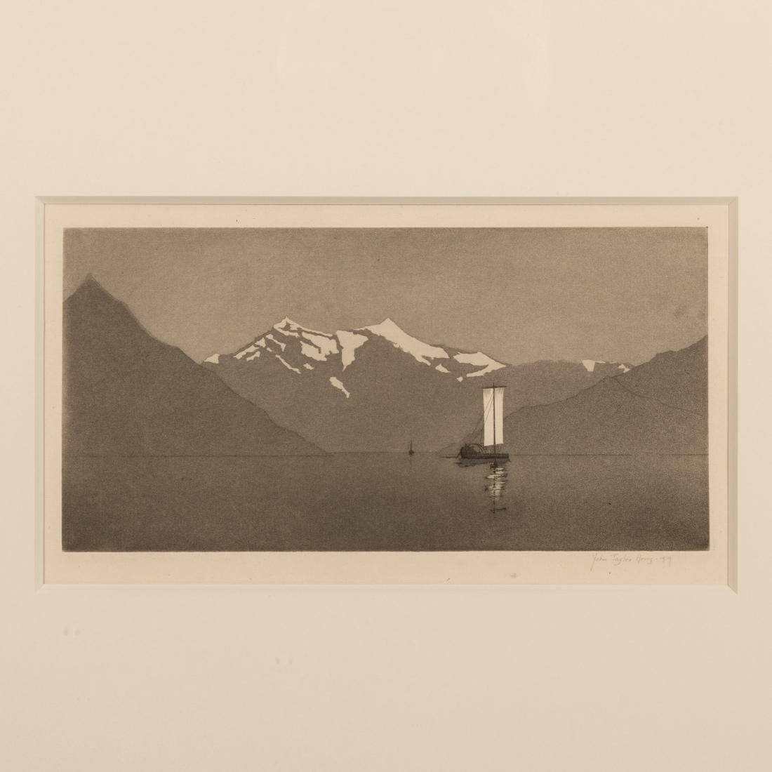 John Taylor Arms - On Lake Como #2 - Aquatint - 2
