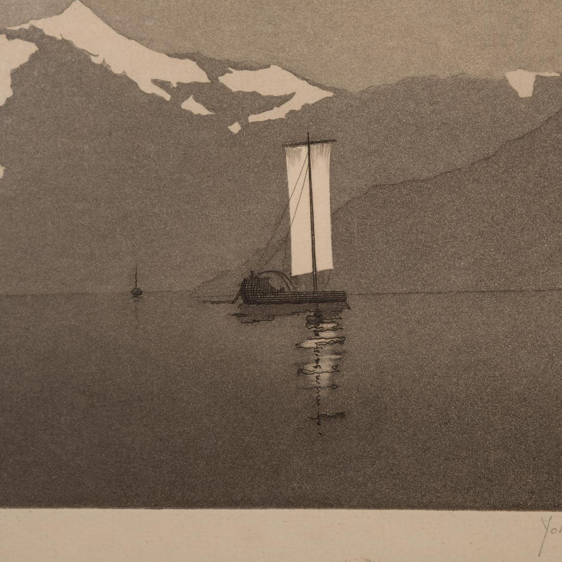John Taylor Arms - On Lake Como #2 - Aquatint - 4
