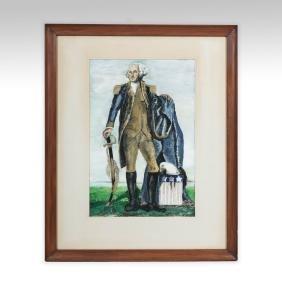 Folk Art Painting of George Washington