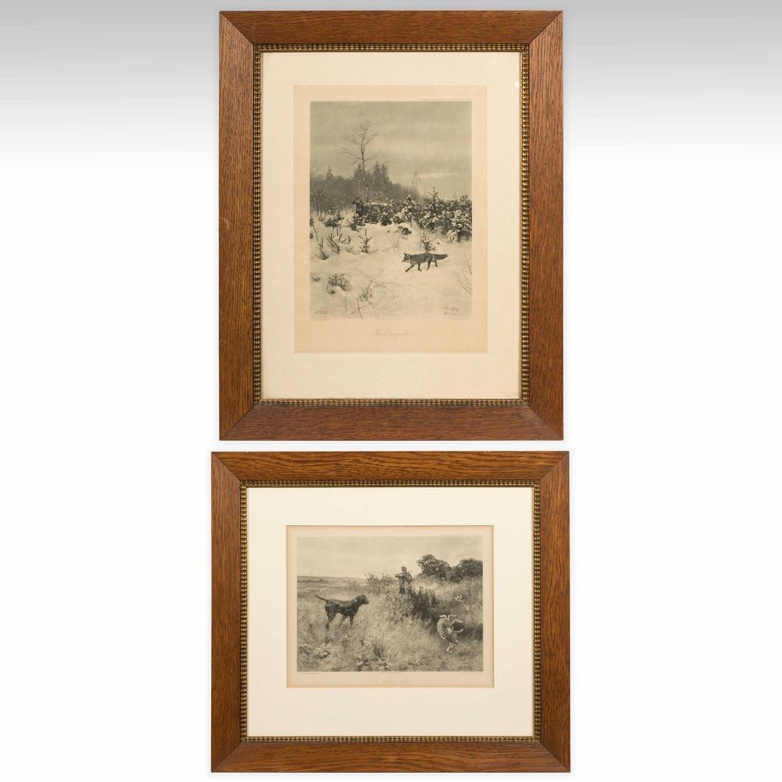 Two Franz Hanfsaengl Prints