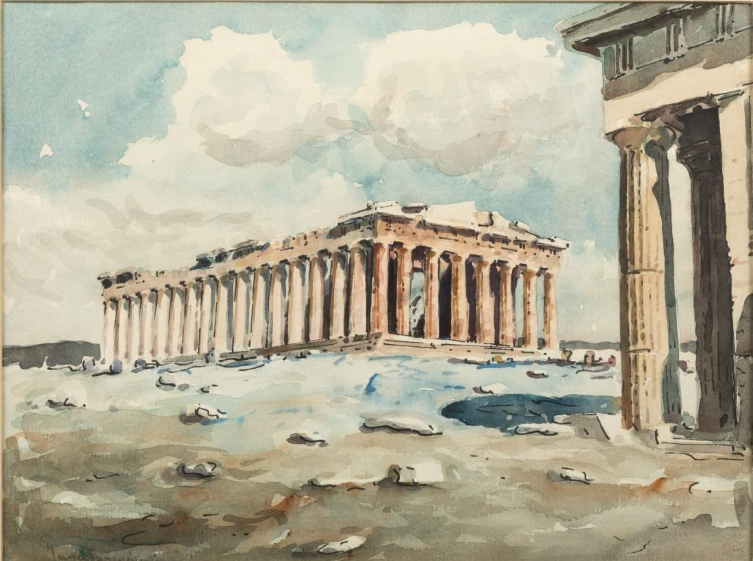 Two Greco-Roman Watercolor Scenes - Signed - 5
