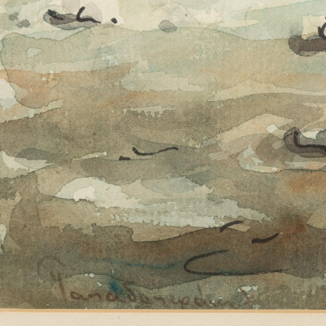Two Greco-Roman Watercolor Scenes - Signed - 6