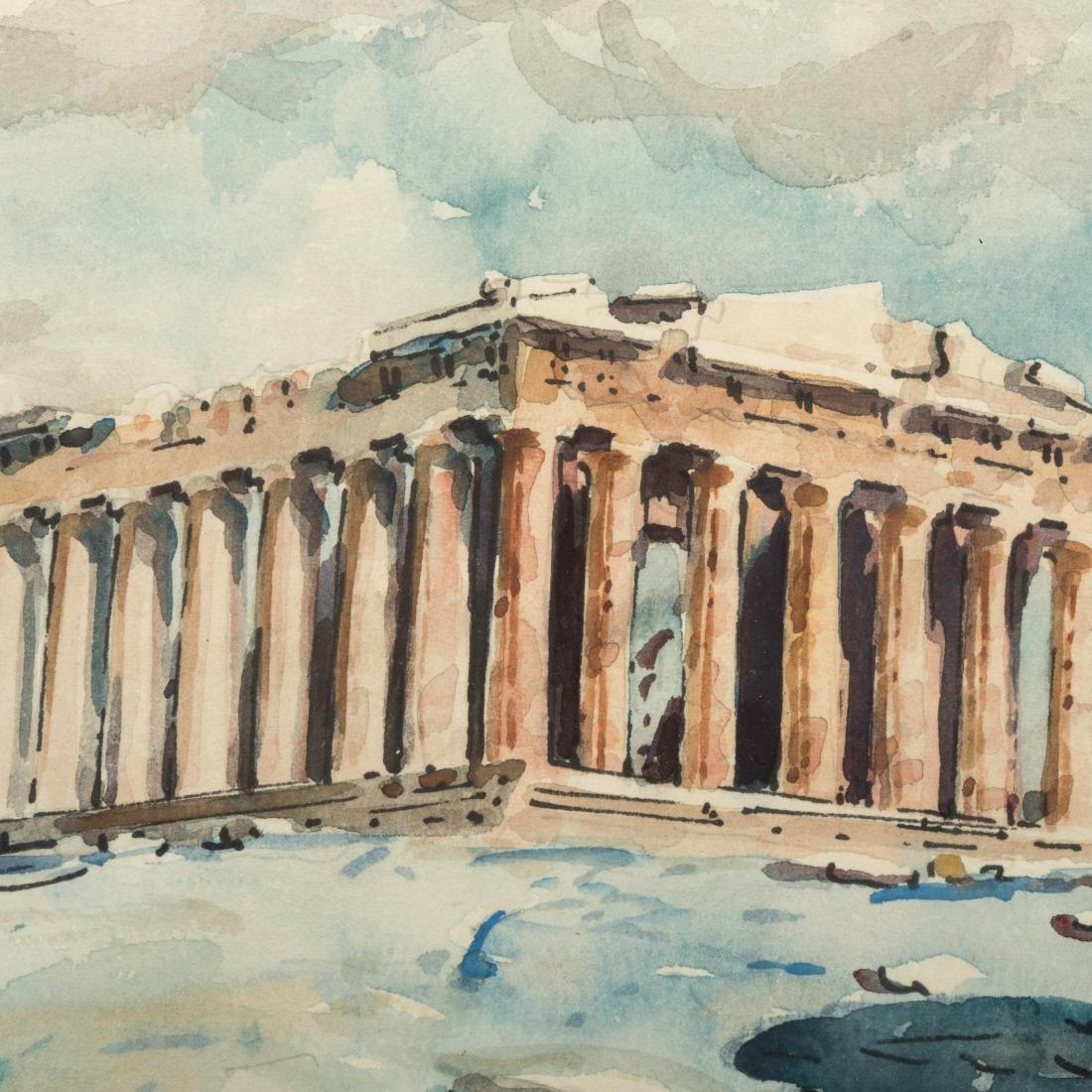 Two Greco-Roman Watercolor Scenes - Signed - 7