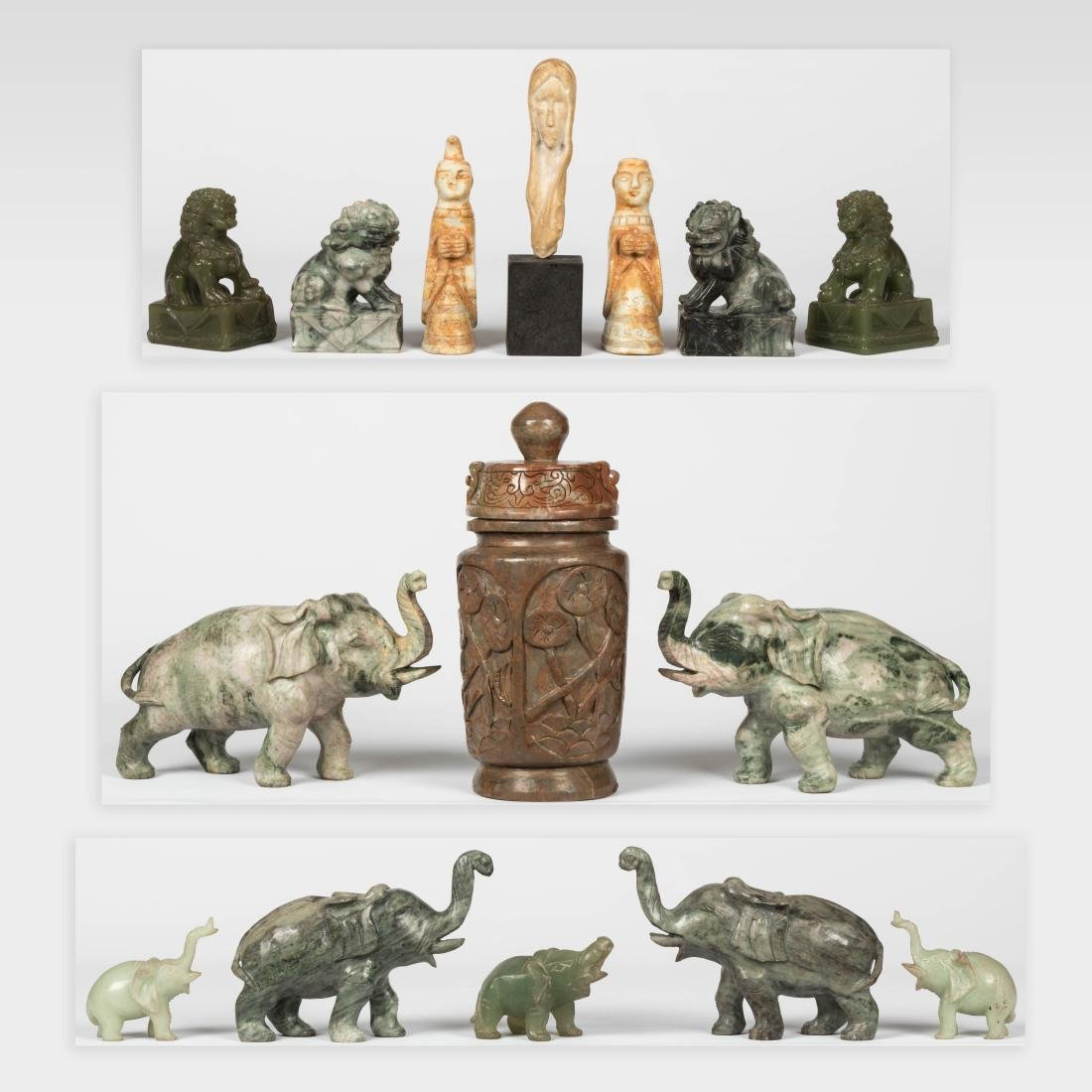 Group Hardstone Animals and Assorted Carvings