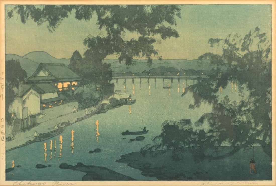 Hiroshi Yoshida - Chikugo River - Woodblock - 2