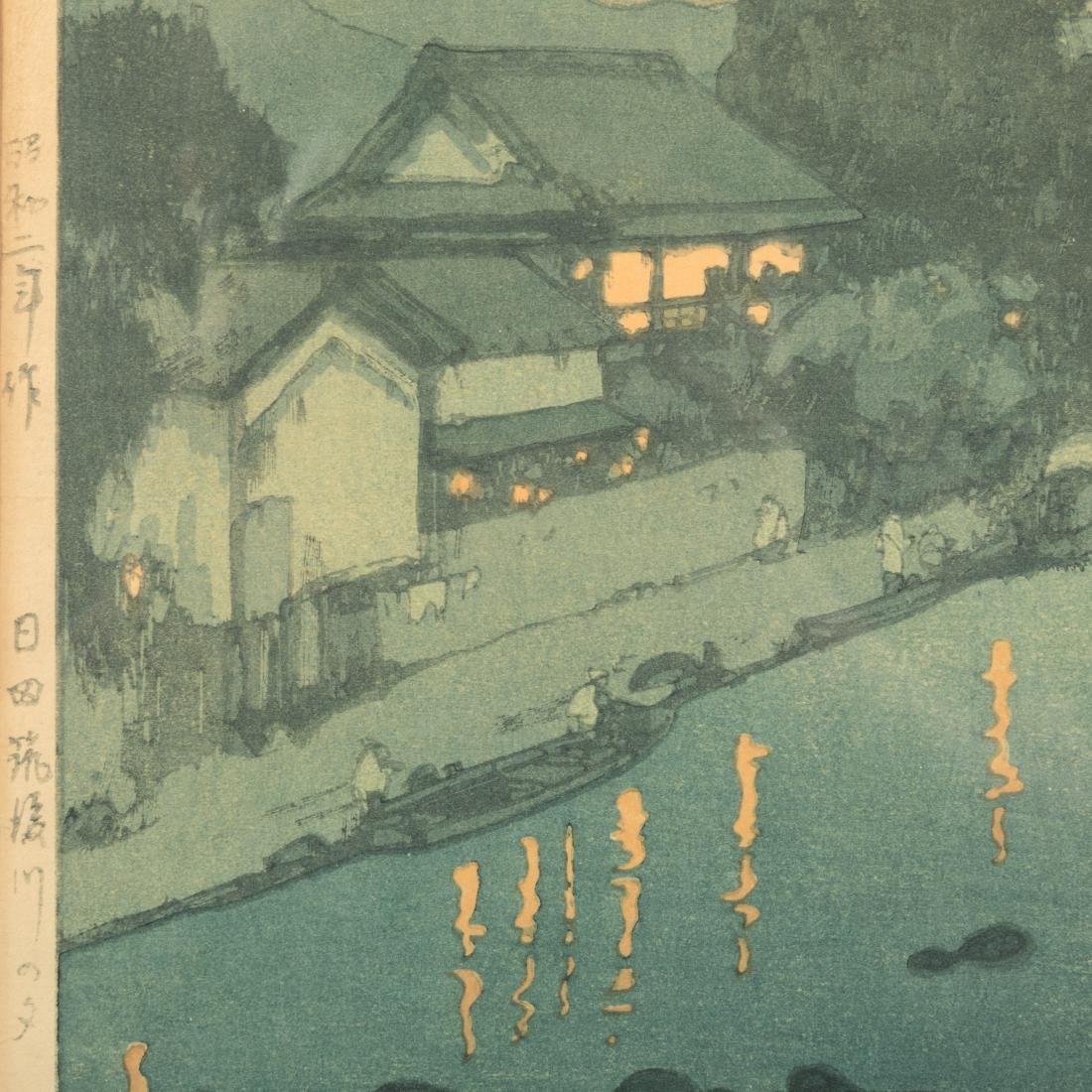 Hiroshi Yoshida - Chikugo River - Woodblock - 6