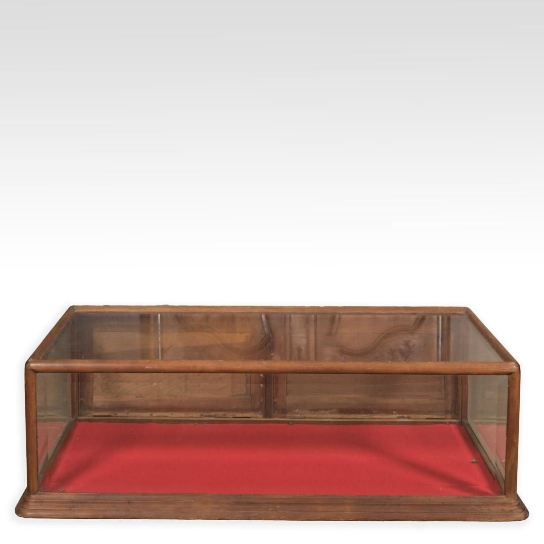 Mahogany Beveled Glass Display Case