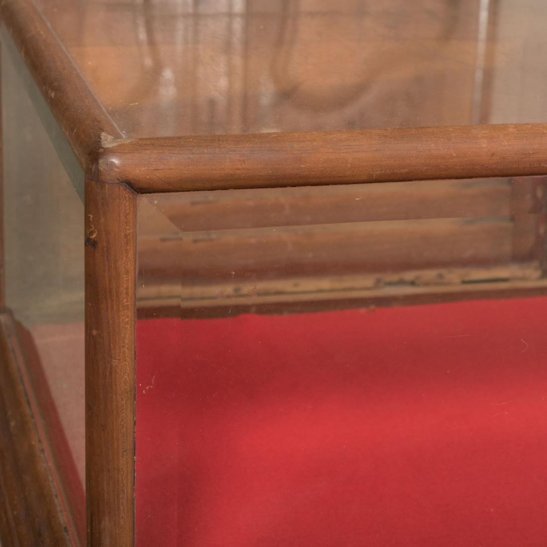Mahogany Beveled Glass Display Case - 2