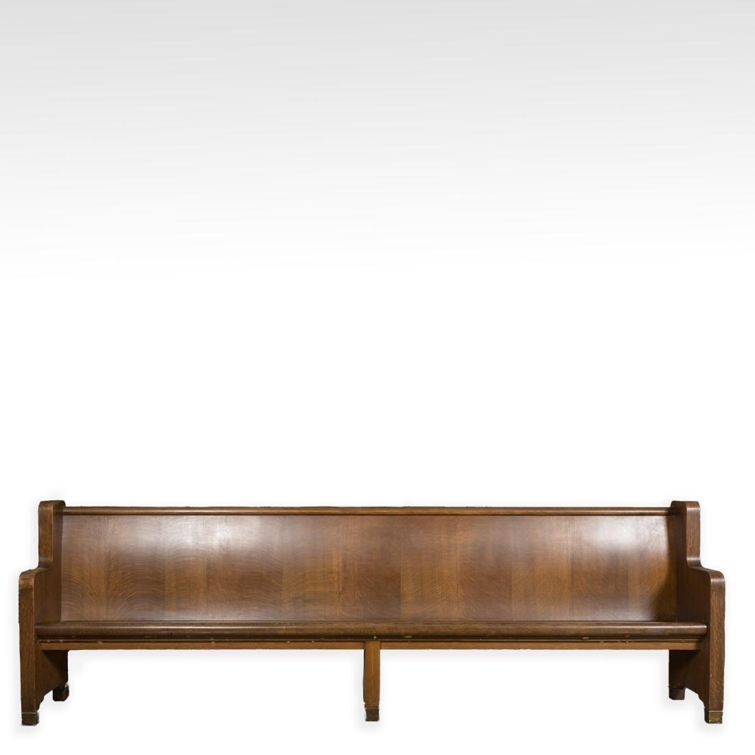 Oak Courtroom Bench