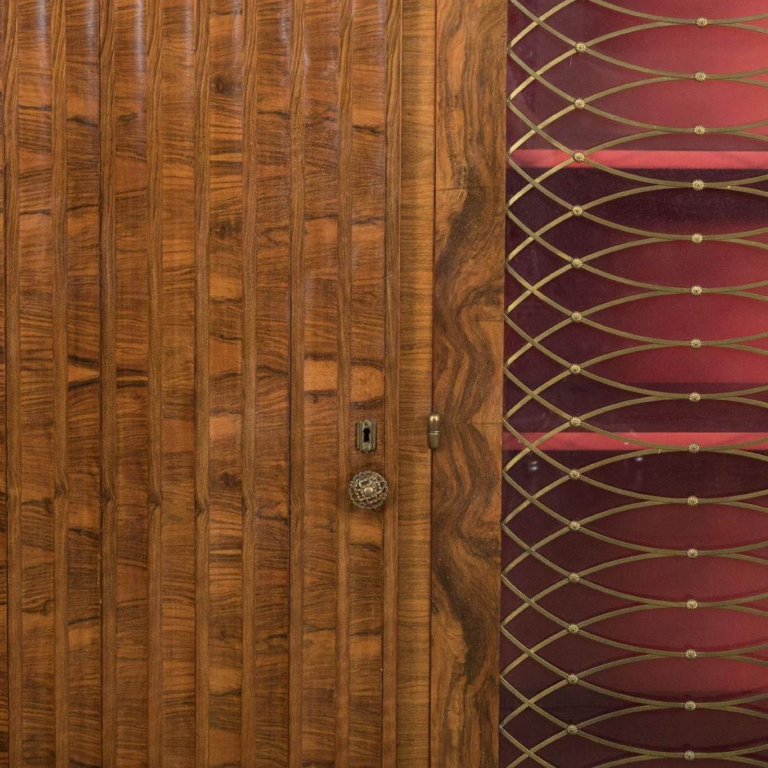 Burled English Art Deco Armoire - Epstein Brothers - 2