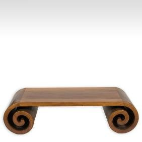 Yew Wood Modern Style Rolled Coffee Table