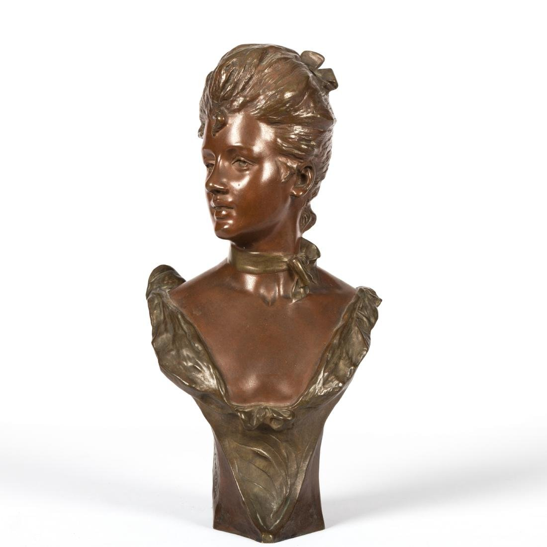Van Der Straeten Bronze Bust of Woman - Signed