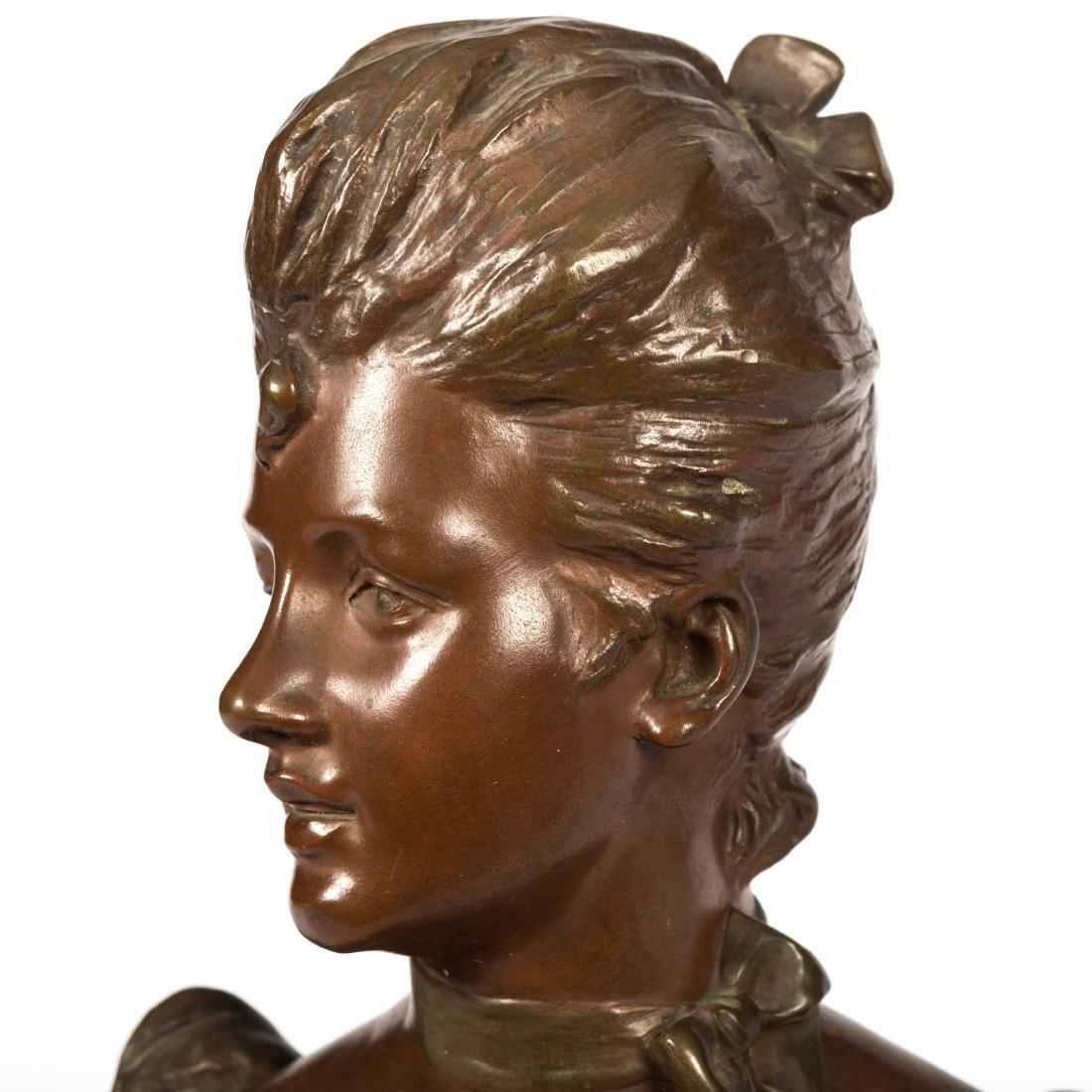 Van Der Straeten Bronze Bust of Woman - Signed - 2