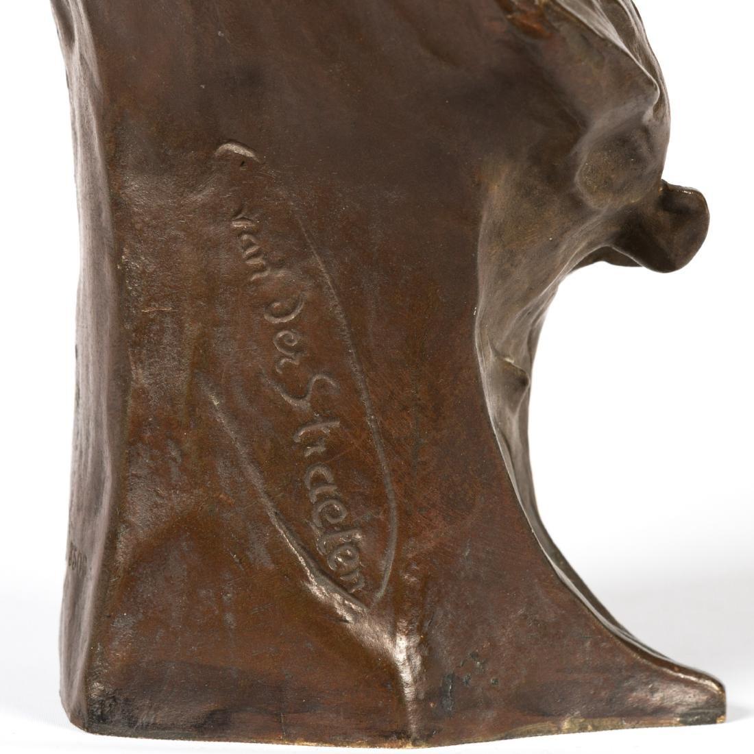 Van Der Straeten Bronze Bust of Woman - Signed - 3