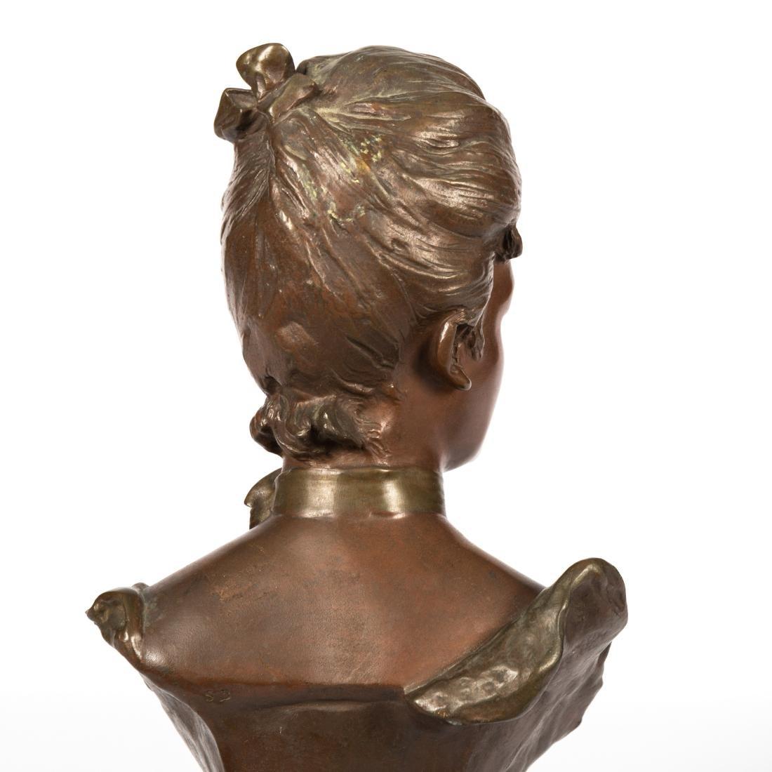 Van Der Straeten Bronze Bust of Woman - Signed - 6