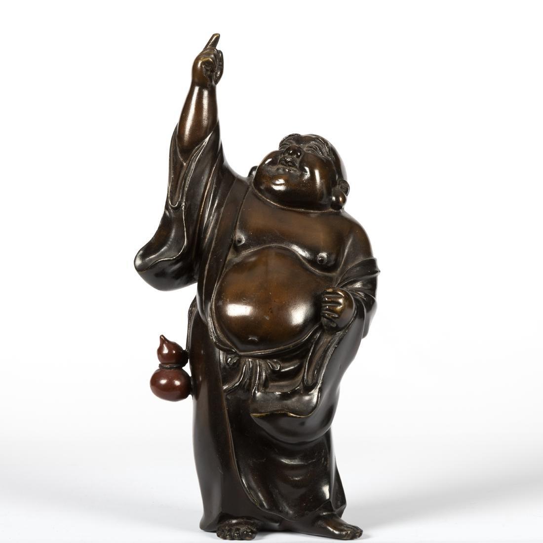 Japanese Bronze Standing Buddha