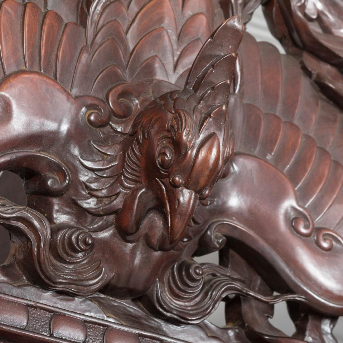 Heavily Carved Japanese Curio Cabinet - 3