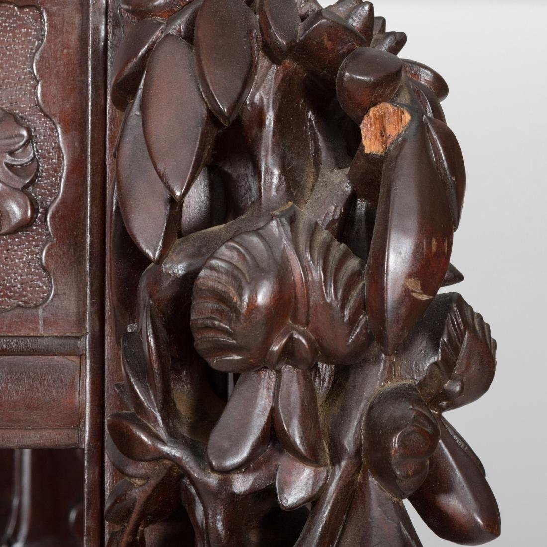 Heavily Carved Japanese Curio Cabinet - 4