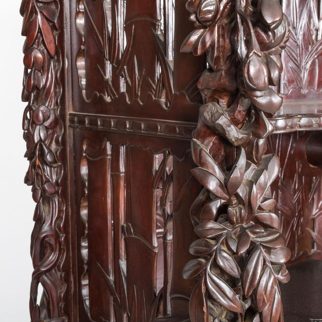 Heavily Carved Japanese Curio Cabinet - 7