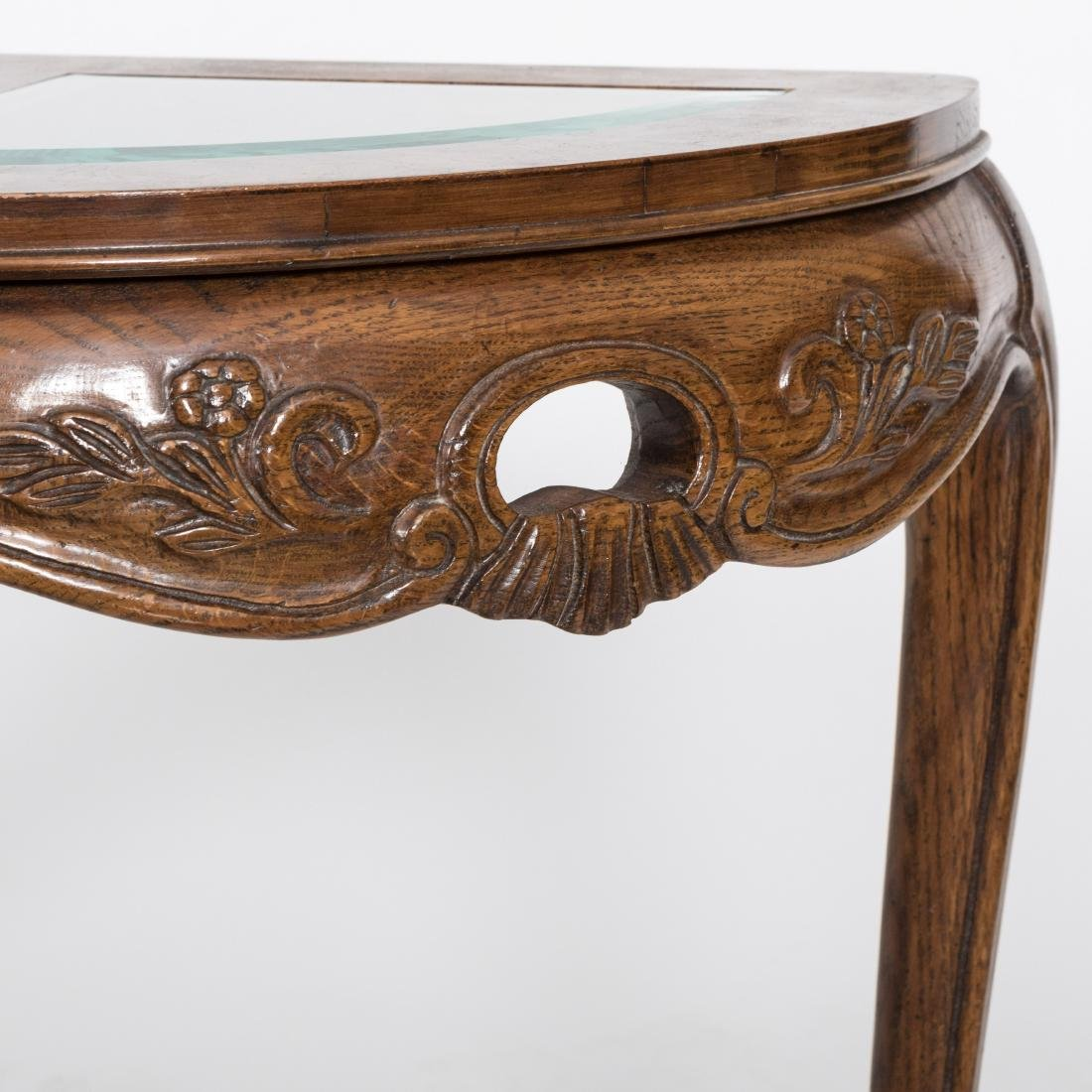 French Style Glass Top Console Table - 4