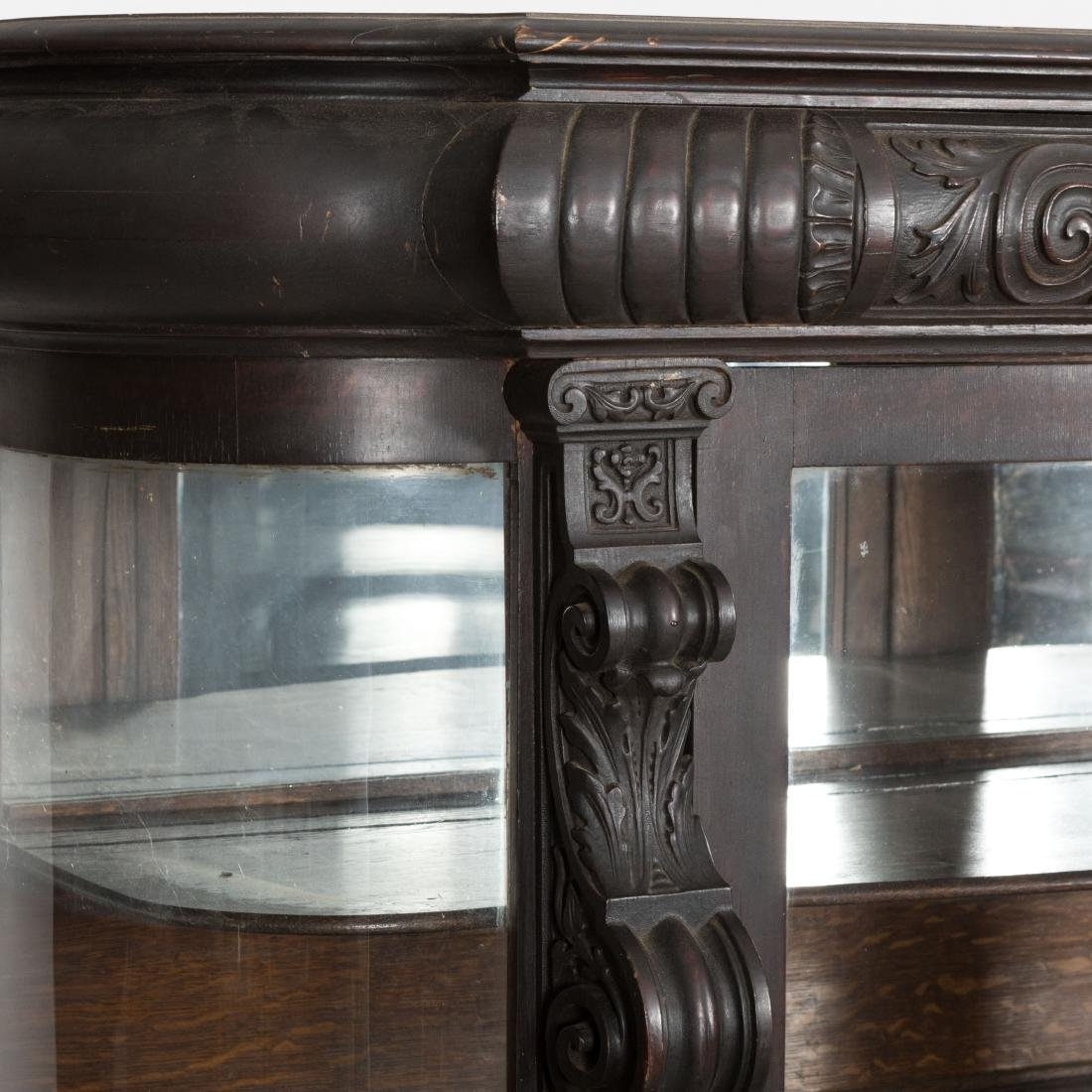 Curved Glass Horner China Cabinet - 2