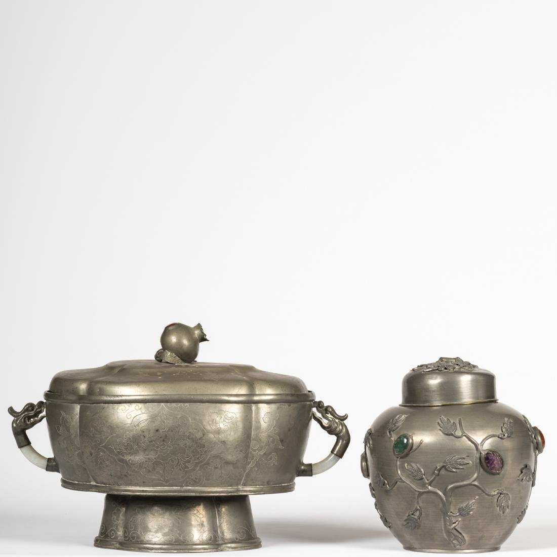 Pewter Jar and Tureen