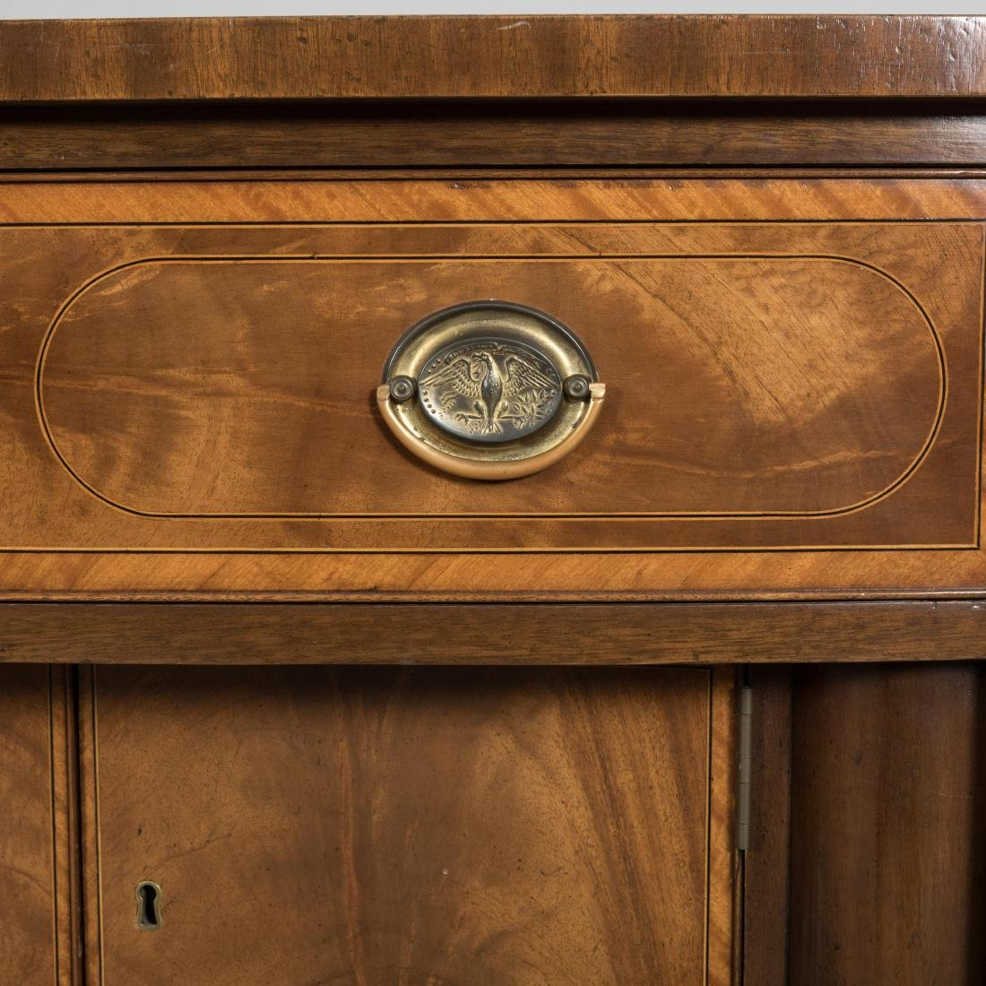 Inlaid Mahogany Colonial Williamsburg Sideboard - 4
