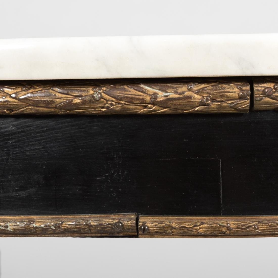 Ebony & Gilt Bronze Marble Top Center Table - 3