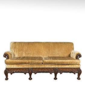 Heavily Carved Federal Style Sofa