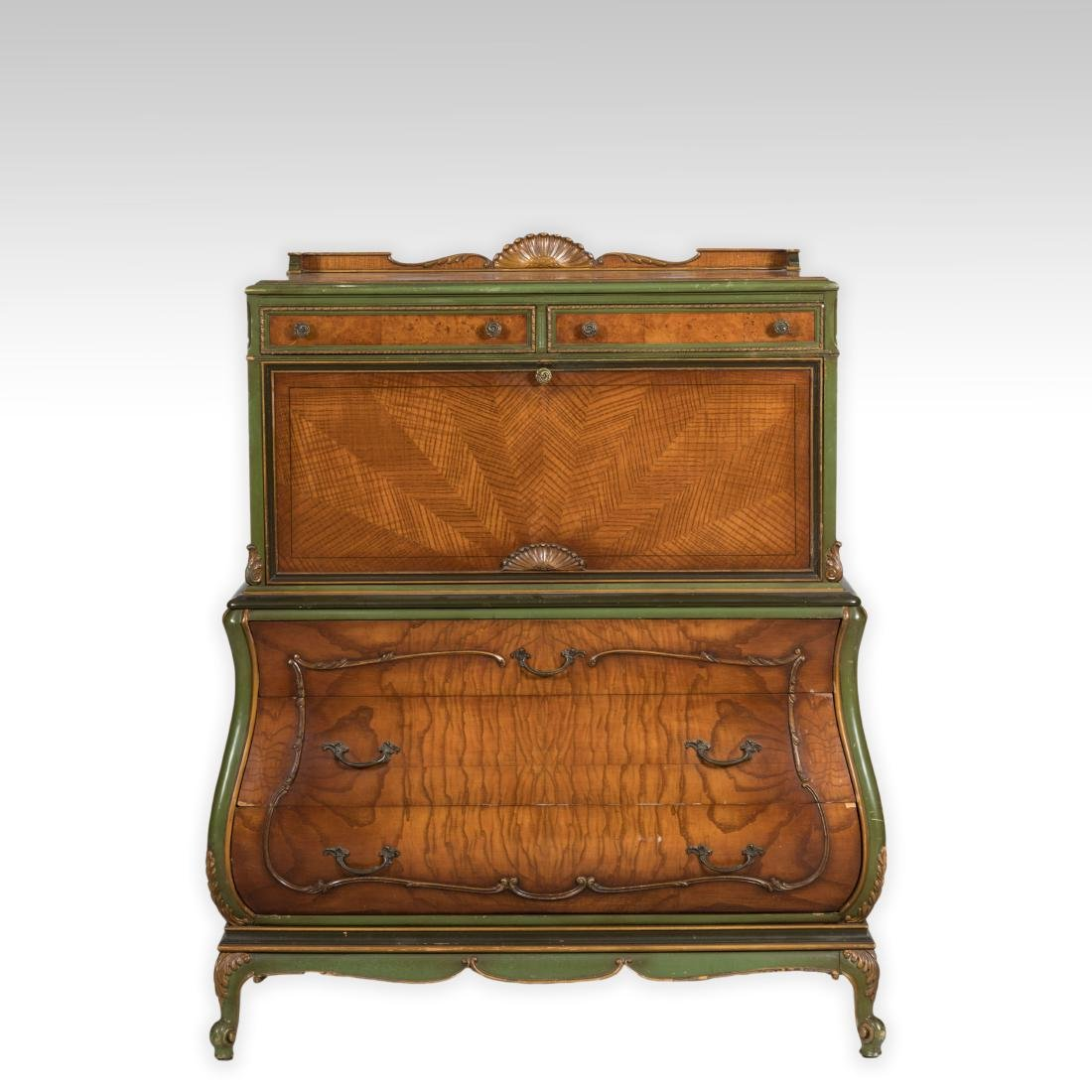 Bombay Chest with Secretary Desk