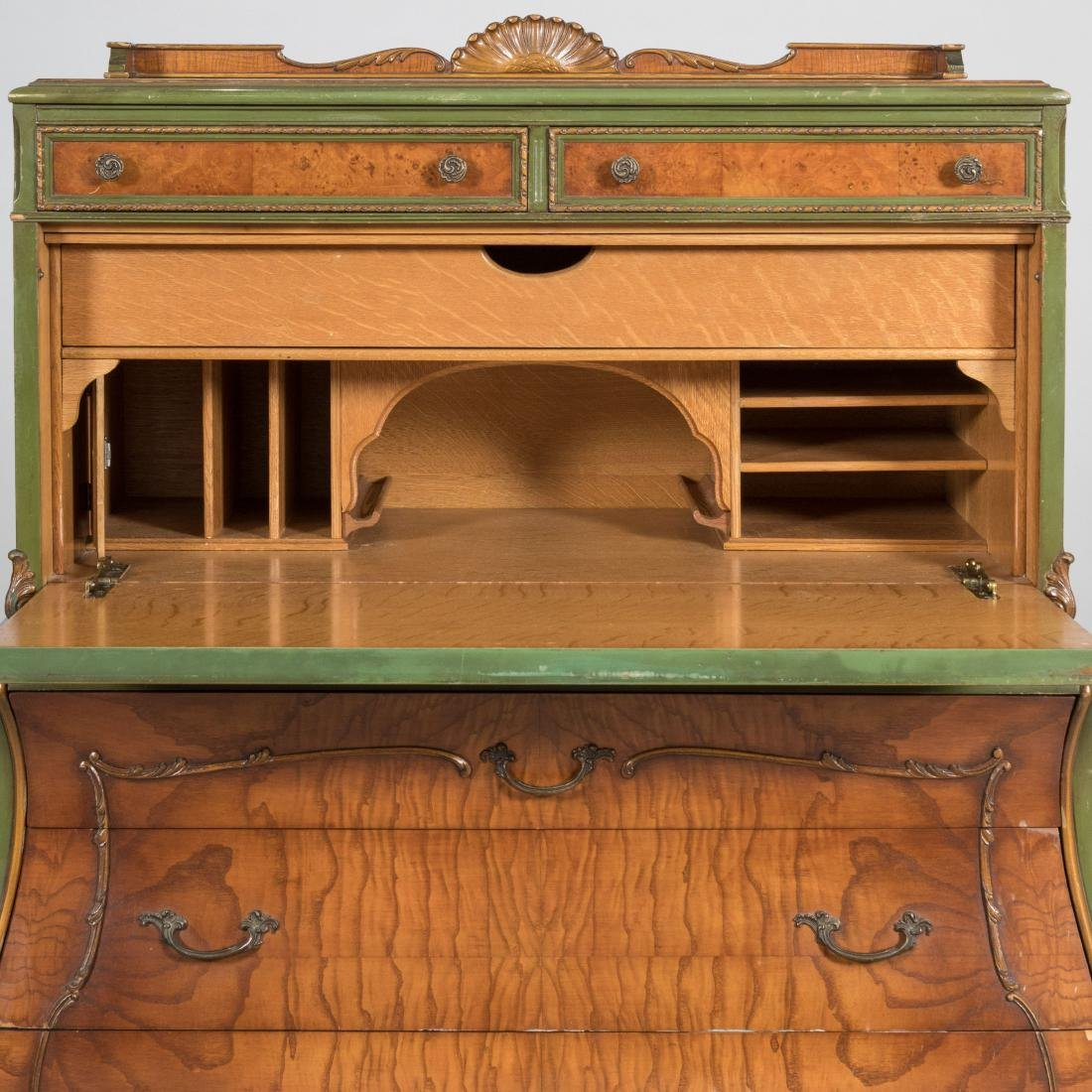 Bombay Chest with Secretary Desk - 6