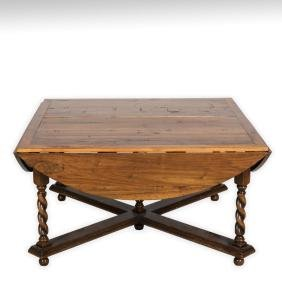 Jacobean Style Walnut Dining Room Table