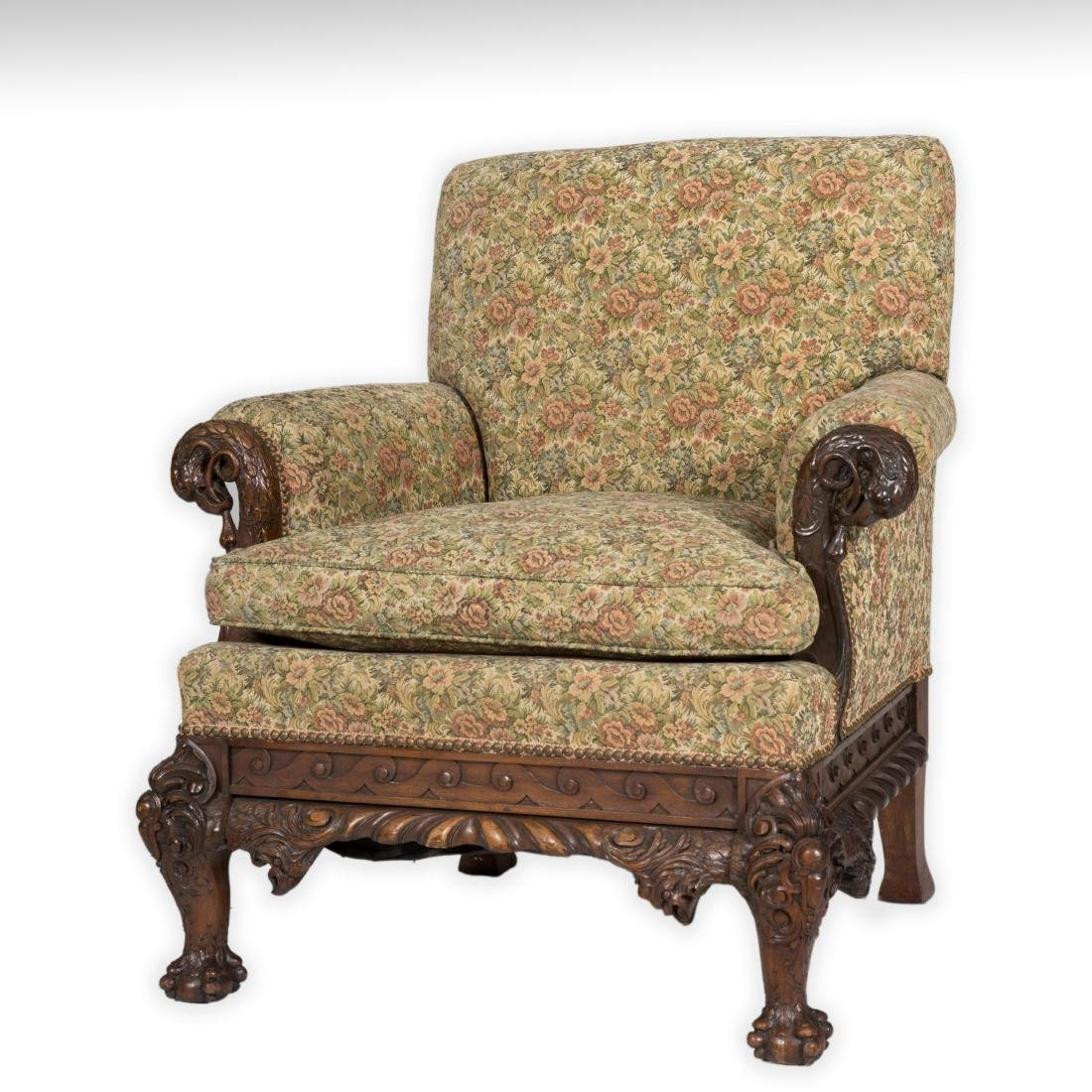 Federal Style Eagle and Serpent Club Chair